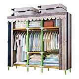 YOUUD 68 Inches Wardrobe Storage Closet Portable...