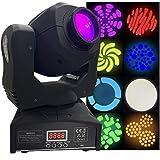 LED Moving Head Spot - Bright, Lightweight, 80 Watt, 8...