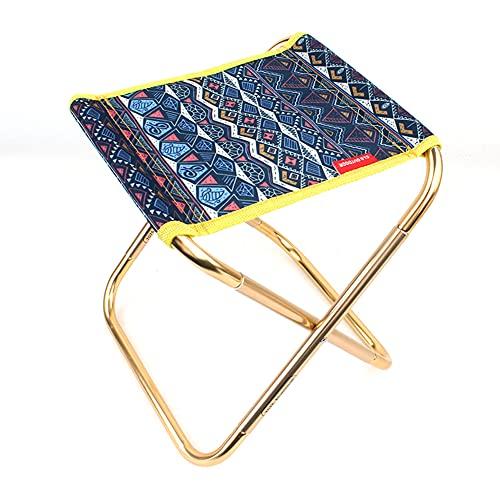 Taburete plegable portátil de la luna, silla ligera, plegable, asiento extendido, aleación de aluminio, ultraligero, desmontable, oficina, hogar, camping, pesca (color: azul)