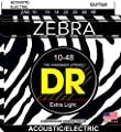 DR Strings Zebra - Acoustic-Electric Round Core 10-48