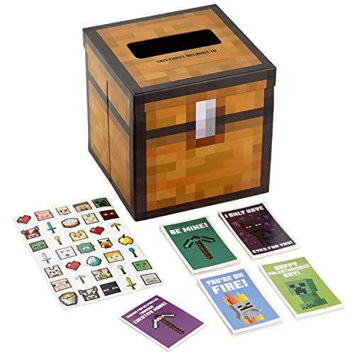 Valentinstagskarten für Jungen für Kinder und Briefkasten für Klassenzimmer, für Spiele und Sport Minecraft