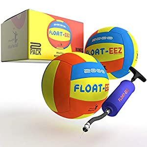 Float-EEZ Pool & Beach Volleyball Pack of 2 - Waterproof - Air Pump Included - Great for Pools & Beach Games