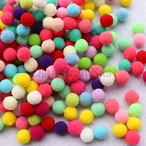 2000pcs 8mm -14mm Rainbow Felt Pom Pons Ball Polyester Felt Ball Garland Pom Pom Garland Bunting Banner Garland Beads