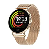 N \ A Sports Watch,Smart Watches,50M Waterproof Sports Watches, Fitness Tracker Watch with Sleep Monitor,Full Touch Screen, with Pedometer Call Reminder Watch(Golden)