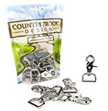 10 - Country Brook Design - 1 Inch Trigger Swivel Snap Hooks