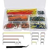 IWILCS 560 Pcs Jumper Wire Cable avec Des Pincettes, Breadboard Kit, Câble de Cavalier de Planche à Pain avec Boîte 14 Assorties Longueur pour Bouclier DIY Platine D'expérimentation