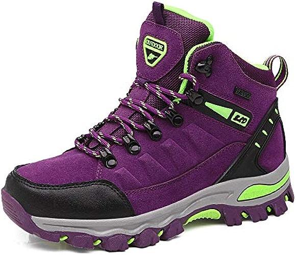 QLJ01 Randonnée en Plein Air Chaussures Femmes étanche Antidérapant Mont Montagne Trekking femmes Taille 35-45 Unisexe Chaussures De Marche Hommes Chasse Chaussures