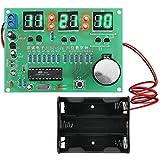 DIY Kit de Módulo de Reloj Electrónico Pantalla Seamuing LED Digital PCB Tablero de Aprendizaje de Proyectos de Soldadura con Soporte de Batería Para Principiantes de Soldadura