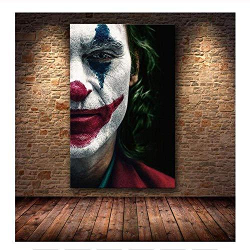 TELEGLO Hollywood Joaquin Phoenix Poster Drucke Joker Poster Film Comic Kunst Leinwand Ölgemälde Wandbilder Für Wohnzimmer Wohnkultur 80X120CM