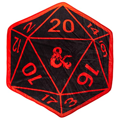 D20 Shaped Throw Blanket