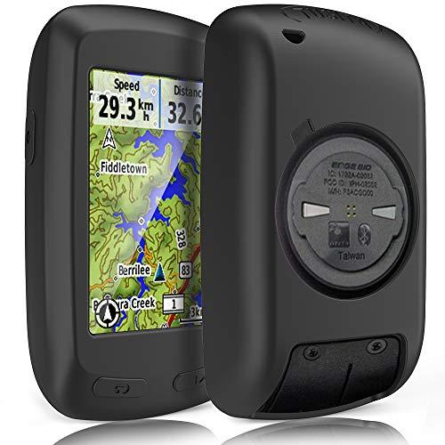 TUSITA Custodia per Garmin Edge 800 810 Touring Plus,Approach G6 G7 - Cover protettiva in silicone per pelle - Accessori per GPS Bike Computer