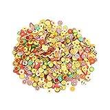 CDKJ 1000 Pièces de stickers sous forme de morceaux de fruits en pâte polymère...