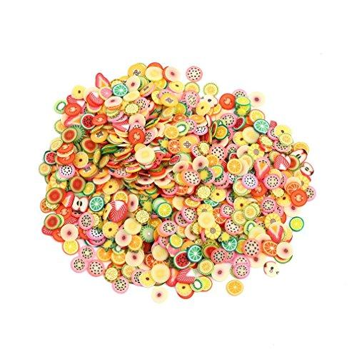 CDKJ: 1000 pegatinas para decoración de uñas, diseño de frutas, de polímero