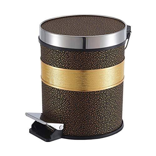 Xiaoli Cubo de Basura Pedal Creativo Basura Hogar Cocina Baño Sala de Estar con Tapa Cubo de Basura de plástico de Gran Capacidad Cubo de Almacenamiento Papeleras (Color : A, Size : M)