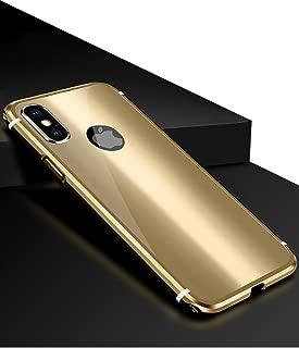 iPhone X Case KumWum Metal Aluminum Bumper Case PC Back Cover for iPhone 10 (iPhone X, Gold)