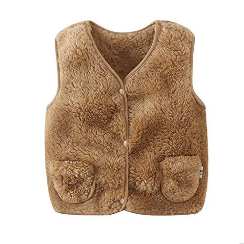 Miyanuby Miyanuby Kinder Baby Westen Mädchen Jungen Jacke Oberbekleidung Faux Pelz Mantel Leichte Warme Kleidung 0-5 Jahre