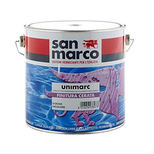 San Marco UNIMARC Finitura Cerata Protettivo trasparente colorato per legno, colore: Trasparente, size: 0,75 lt