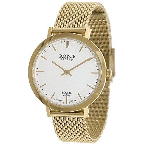 Boccia Damen Digital Quarz Uhr mit Edelstahl Armband 3246-11