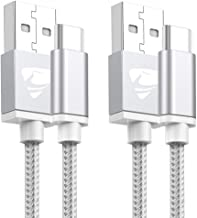 Lot de 2 câbles USB C en Nylon tressé 2 m 2-Pack White 2m 2 Pack White