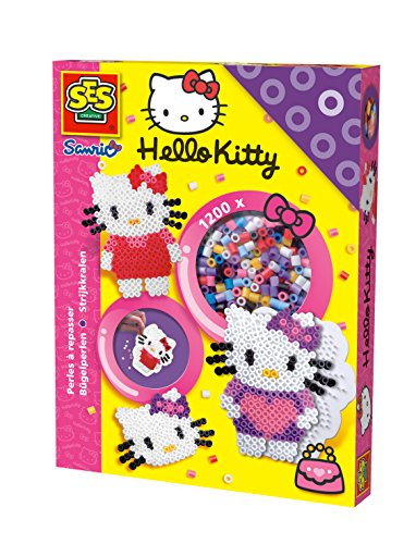SES creative 14751 - Hello Kitty Bügelperlen, 1200 Stück