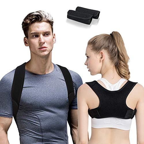HyAdierTech Rückenkorrigierer, Haltungskorrektur Rücken Herren Damen, Verbesserte Körperhaltung mit Lendenwirbelstütze für Männer und Frauen, Linderung Rückenschmerzen, Nacken, Brust, Schultern