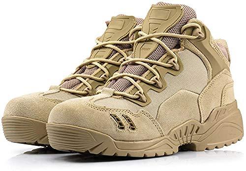 (B&G)米軍SWAT ミリタリー ブーツ メンズ ブラック サバイバルゲーム 防水 耐久性 サバゲー 靴 釣り 登山 アウトドア (27.0cm, ベージュ)