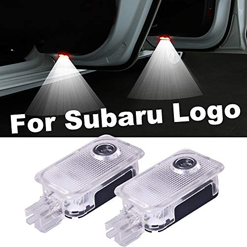 xy 10.01 Pair for Subaru Logo Auto-Tür-Licht for Forester Outback Legacy-XV Impreza Tribeca Badge-Geist-Schatten-Projektor-Zubehör (Color : 1 Pair (2 Piece), Emitting Color : for Subaru Logo)