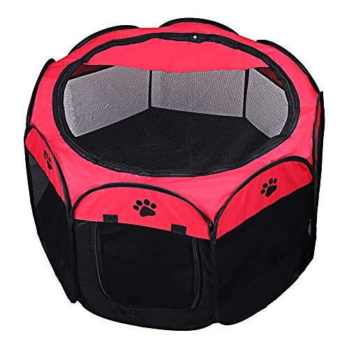DZL- Parque para Perros Grandes Tienda de Campaña Plegable para Mascotas Playpen Perro Gato Cachorros Portátil Plegable (65 * 65 * 43CM)