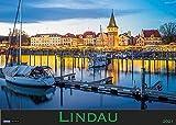 Lindau und der Bodensee 2021: Wandkalender mit 12 atmosphärischen Aufnahmen der Inselstadt und des Bodensees. Querformat 31 x 42 cm