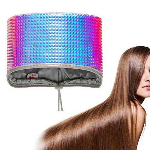 YWJH Casques Chauffant Cheveux, Bonnet De Soins&Chapeau Nutritionnel, Ce Chapeau Est Parfait pour Les Soins Personnels À La Maison