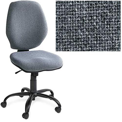 BRB Bürodrehstuhl Perfekt, Synchronmechanik, extra hohe Rückenlehne 520 mm, grau