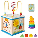 Wooden Kids Baby Activity Cube for 1 2 3 Years Old...
