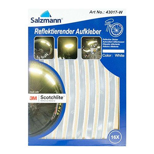 Salzmann 3M Reflektierende Aufkleber - Sticker für Taschen, Kinderwagen, Helme - Hergestellt mit 3M Scotchlite
