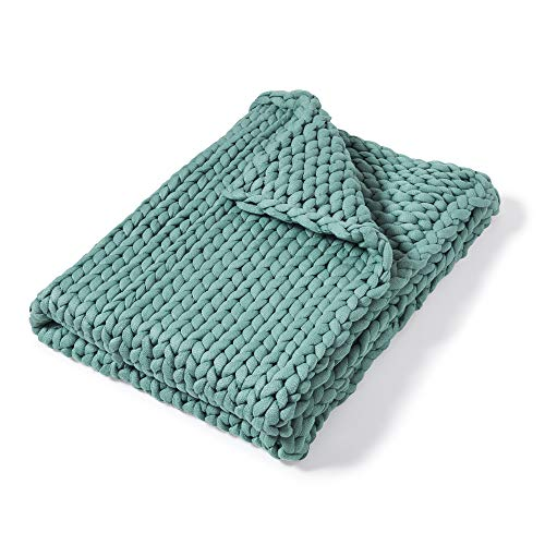 Donna Sharp Throw, Chunky Knitted (Aqua)