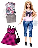 Barbie Fashionista Curvy Blonde Doll with 2 Additional Outfits