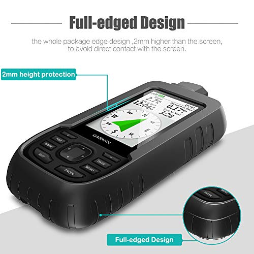 Handheld GPS Accessories TUSITA Case for Garmin GPSMAP 66i Black Silicone Protective Cover