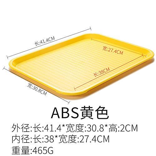 CZHJG Tablett Rechteckigen Kunststoffplatte Burger Laden Tablett Kommerziellen Fast-Food-Geschirr 41,4X30,8X2Cm