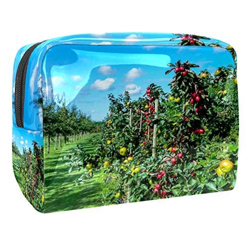 Bolso de Cosméticos Huerto Verde Neceser de Viaje para Mujer y Niñas Organizador de Bolso Cosmético Accesorios de Viaje Estuche de Maquillaje 18.5x7.5x13cm