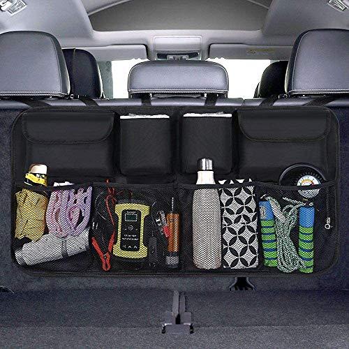 BURNNOVE Kofferraum Organizer Auto Aufbewahrungstasche Wasserdicht Organizer Auto mit großen Sitztasche Autositztasche Kofferraumtasche Auto schwarz