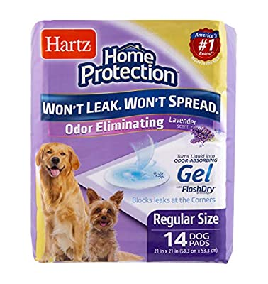 Hartz Home Protection Lavender Scented Odor Eliminating Gel Dog Pads - 14 Count