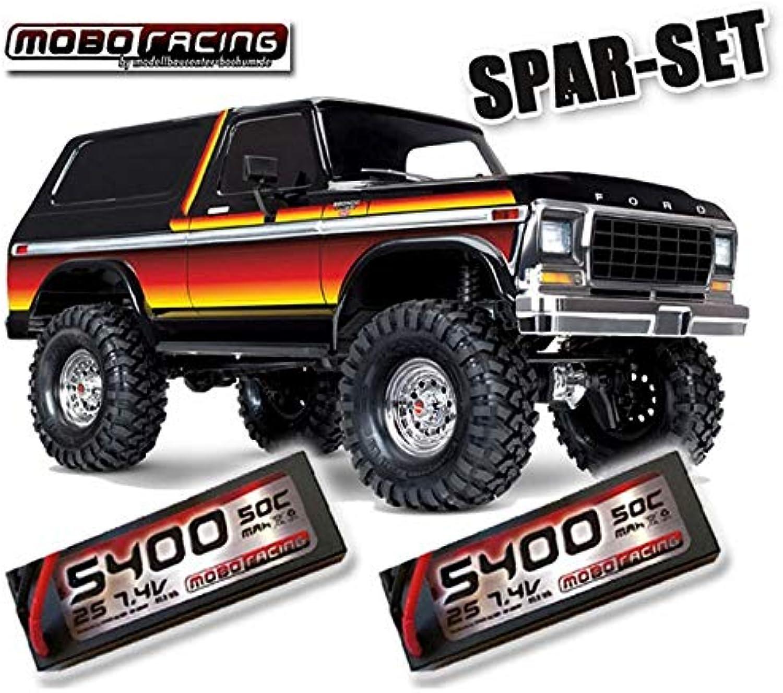 Traxxas 82046-4 TRX-4 1979er Ford Bronco + 2X 2S 7,4V 5400mAh LiPo TRX4 - Sunset
