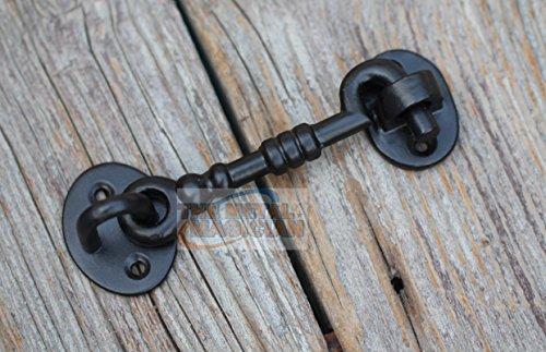 The Metal Magician - Pestillo de hierro fundido, aldabilla para puertas y verjas, 12,7 cm