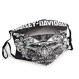 KINGAM Harley Davidson - Máscara facial para motocicleta para hombre y mujer, protección contra el viento, transpirable, Rave para el cuello