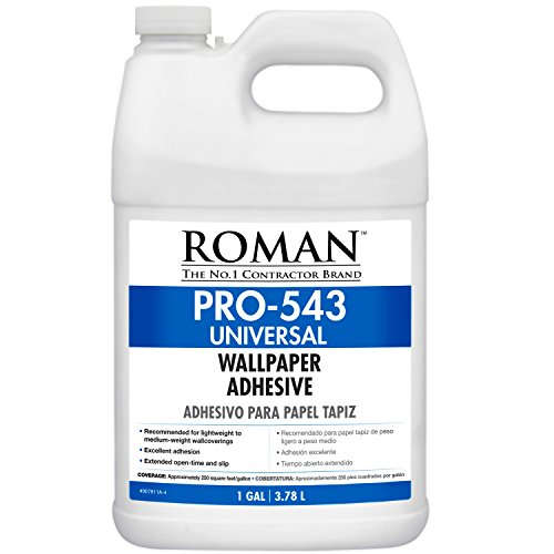 Roman 207811 PRO-543 Universal Wallpaper and Border Adhesive with Applicator, 1 gal