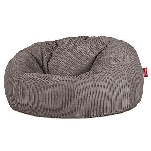 Lounge Pug®, Sitzsack Sofa, Relaxsessel, Cord Schiefergrau