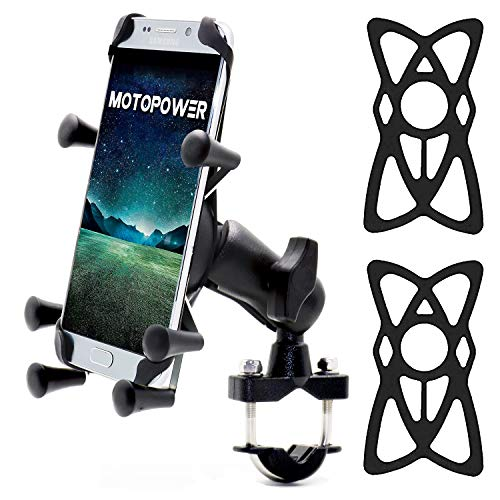 MOTOPOWER MP0619 Bike Cell Phone Mount Smartphone & GPS-Universal Mountain & Road Bicycle Motorcycle Handlebar Cradle Holder