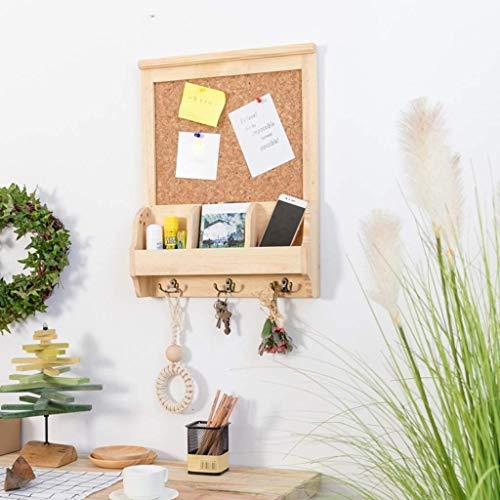 Porche Marco de pared de madera abierto Caja de almacenamiento de llaves...