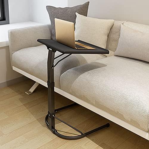 NICEME Klappbar Laptop Beistelltisch | Höhenverstellbar | Neigungsverstellbar | Couch-Tisch | Leicht und tragbar | für Bett, Sofa, Outdoor (Color : Schwarz, Size : 43x43cm)