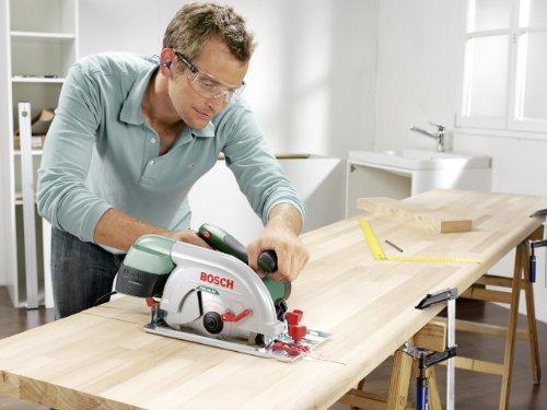 Bosch DIY Kreissäge PKS 66 AF, 1 Hartmetallsägeblatt Speedline Wood, Parallelanschlag, Führungsschiene, Karton (1600 W, Schnitttiefenbereich bei 90° 0-66 mm, Kreissägeblatt Nenn-Ø 190 mm) - 4