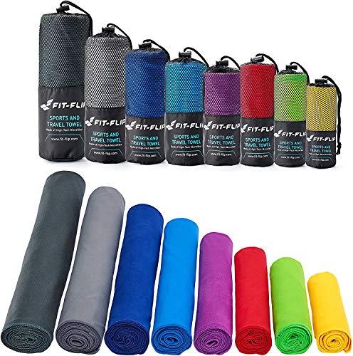 XBRMMM Toalla de Microfibra - Disponible en Todos los Colores, los tamaños de 8 - Compacto, Ultra Ligero y de Secado rápido - Microfibra Toallas - la Toalla de Deportes, Toalla de Playa.